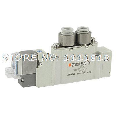 Push Turn Locking Lever DC 12V 5 Port Solenoid Valve pc400 5 pc400lc 5 pc300lc 5 pc300 5 excavator hydraulic pump solenoid valve 708 23 18272 for komatsu