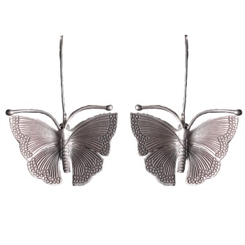 Handmade Silver Vintage Butterfly Earrings2