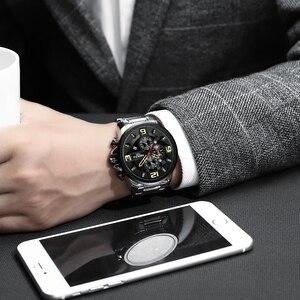 Image 5 - NIBOSI hommes montre Reloj Hombre 2018 hommes montres haut marque de luxe montre à Quartz grand cadran Sport étanche Relogio Masculino Saat