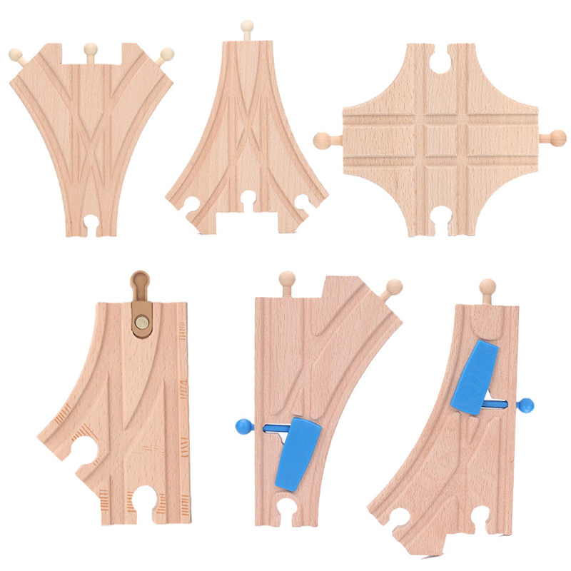 Brio Wooden Rail Train Accessories Wood Expansion Switch Crossing Track Railway