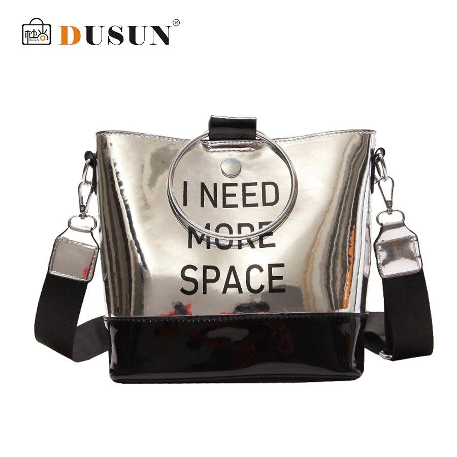 DUSUN Summer Messenger Bag female 2018 new wave Korean fashion letter Handbag small bag Flap Wide Strap Shoulder Crossbody Bag