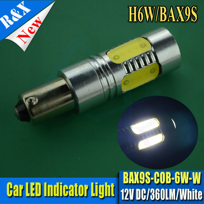 1Pcs 4W White Cob LED 433 434 BAX9S H6W OFFSET PINS CANBUS NO ERROR FREE SIDE POSITION LIGHT BULBS AC12V