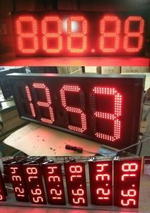 Image 2 - Уличный 7 семисегментный светодиодный цифровой номер красного цвета для продажи газа, 10 шт./лот, 12 дюймов, модуль светодиодного дисплея