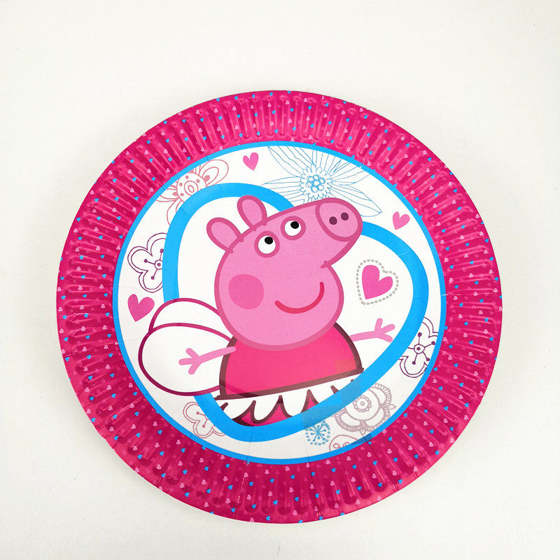 10pcs Cute Pink Pig Disposable 7inch Paper Plate Printing Round Plates Kid Boy Birthday Party supplies Cartoon Theme -in Disposable Party Tableware from ...  sc 1 st  AliExpress.com & 10pcs Cute Pink Pig Disposable 7inch Paper Plate Printing Round ...