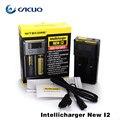 Hot vender Carregador de Bateria Intellicharge i2 Automático Inteligente-Carregador 18650/18350/26650 bateria e cigarro carregador de bateria