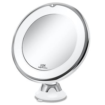 Makeup Vanity Mirror With 10X  Lights LED Lighted Portable Hand Cosmetic Magnification Light up Mirrors VIP Dropshipping