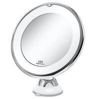 Косметическое зеркало с 10X подсветкой светодиодный портативный ручной косметический увеличительное устройство зеркала VIP дропшиппинг