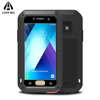 Metal Armor Case For Samsung Galaxy A3 A5 2017 Case Shockproof Gorilla Glass Luxury Phone Metal