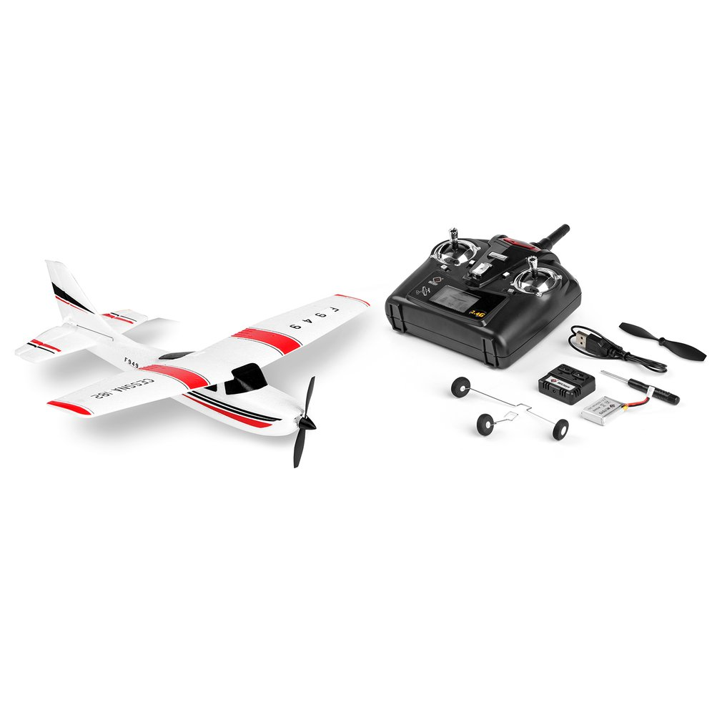 Hot! WLtoys F949 3 Channel <font><b>RC</b></font> drone 2.4GHz Radio Control <font><b>RC</b></font> Airplane Fixed Wing RTF <font><b>CESSNA</b></font>-<font><b>182</b></font> <font><b>Plane</b></font> Outdoor Drone Toy for gifts image