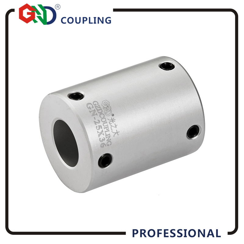 Coupling shaft coupling GND aluminum alloy high rigidity setscrew series for CNC coupler 4/5/6/8/9 OD16x24 not Jaw Shaft Coupler d40mm setscrew hard alloy flex metal bellow coupling