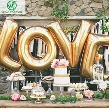16″ Gold Silver LOVE Helium Foil Ballons Letter Baloon Wedding Party Valentine's day Decoration Holiday Decorations