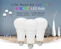 Mi light LED Bulb FUT105 E27 12W RGB+CCT RGBW Bright LED Bulb in Group AC85V 265V Wireless 2.4G Wireless Smart Control Lamp