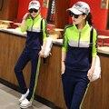 MOKnife 2017 mujeres del resorte traje casual set mujer chándal traje twinset camiseta de la capilla ropa delgada más el tamaño S-3XL