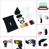 1Set Honeycomb Gridx Shelf Filter Rubber Band Light Sphere Bounce Snoot Carrying Bag FOR Flash Speedlite