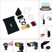 1 компл. новые сотовые gridx + полка + фильтр + резинкой + свет сфере/отказов/Snoot + сумка для переноски для вспышки Speedlite