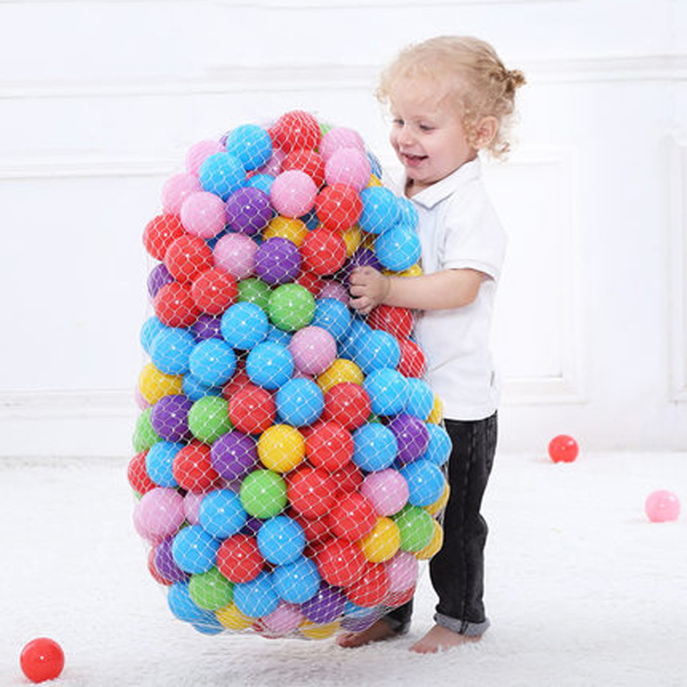 все цены на 200 Pcs/lot Plastic Ocean Ball Eco-Friendly Colorful Ball Soft Funny Baby Kid Swim Pit Toy Water Pool Ocean Wave Ball Dia 5.5cm