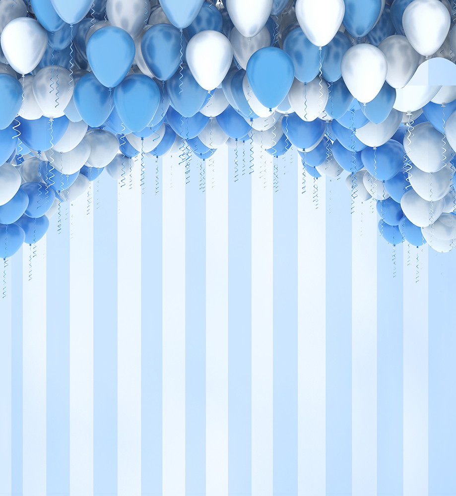 kate 150x220cm blue and write balloons photography backdrops