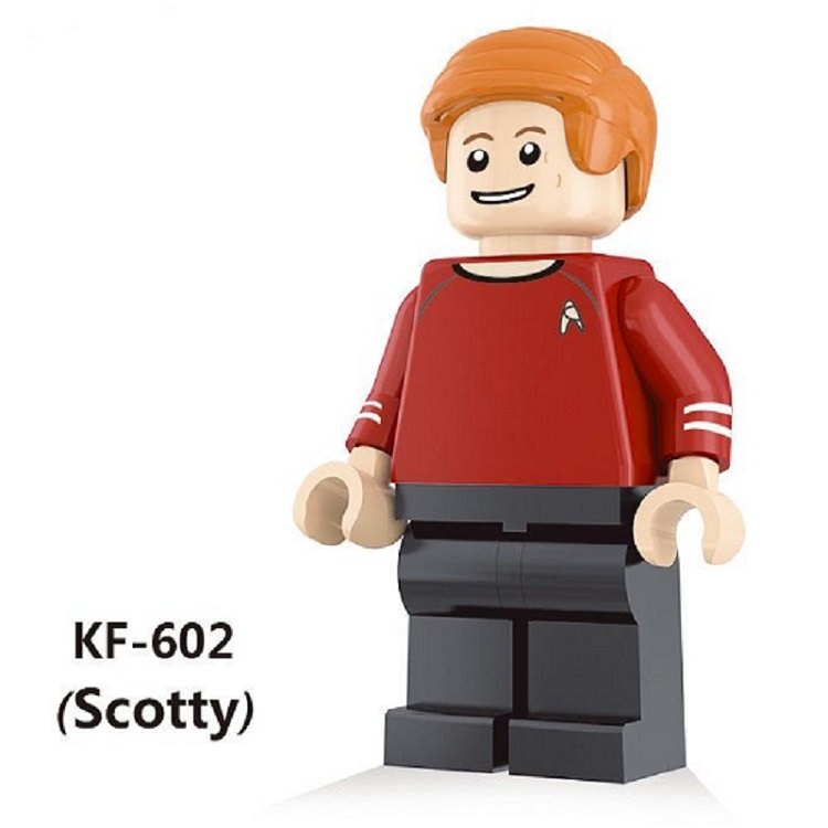 Single Sale Star Trek Scotty Eoward Tayburn Super Heroes Bricks Set Model Building Blocks Learning Toys for children Gift KF602  star trek zulu eoward tayburn captain kirk khan scotty spock super heroes bricks model building blocks toys for children kf8002