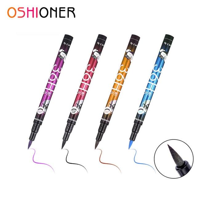 OSHIONER 1 unid negro 36 H impermeable Lápiz Delineador de Ojos de prueba de sudor de larga duración líquido delineador de ojos lápiz hacer herramienta