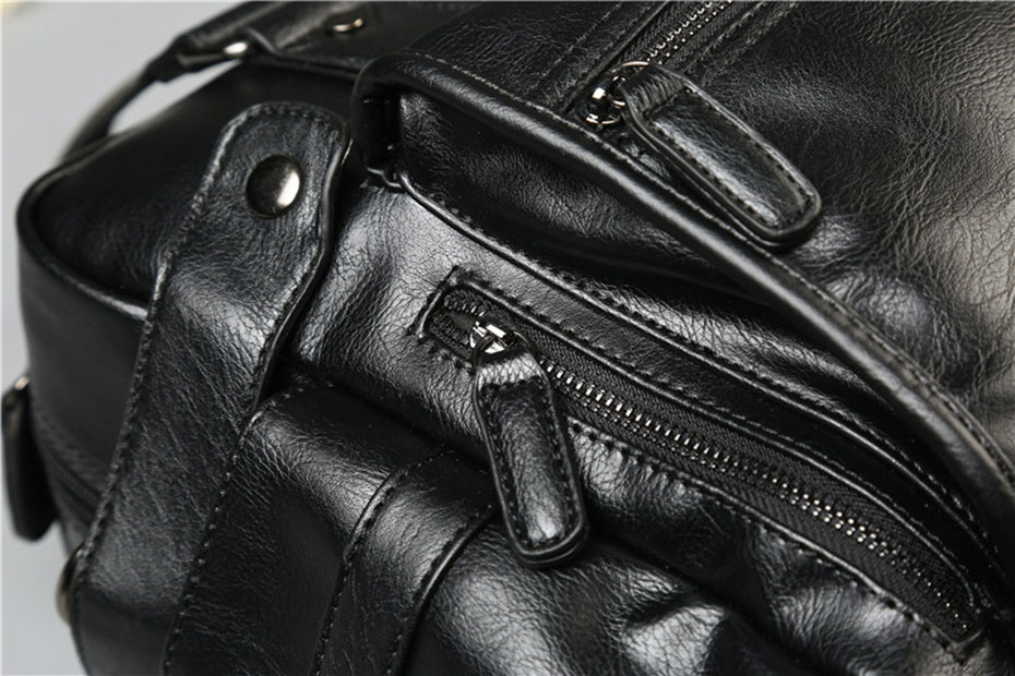 Men'S Briefcase Messenger Shoulder Bags Large Capacity Handbag Business High Quality Leather Computer Bags Laptop Multifunction