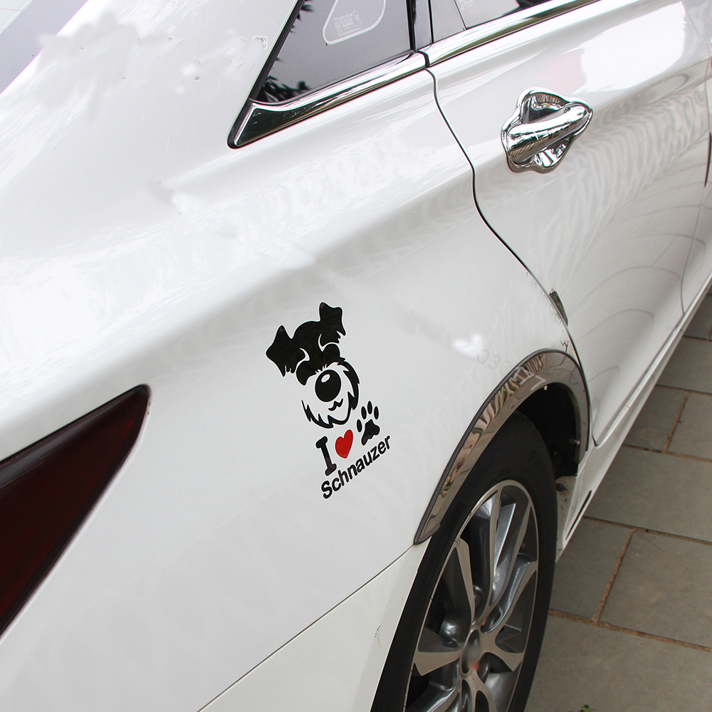 White Cloure Car Sticker