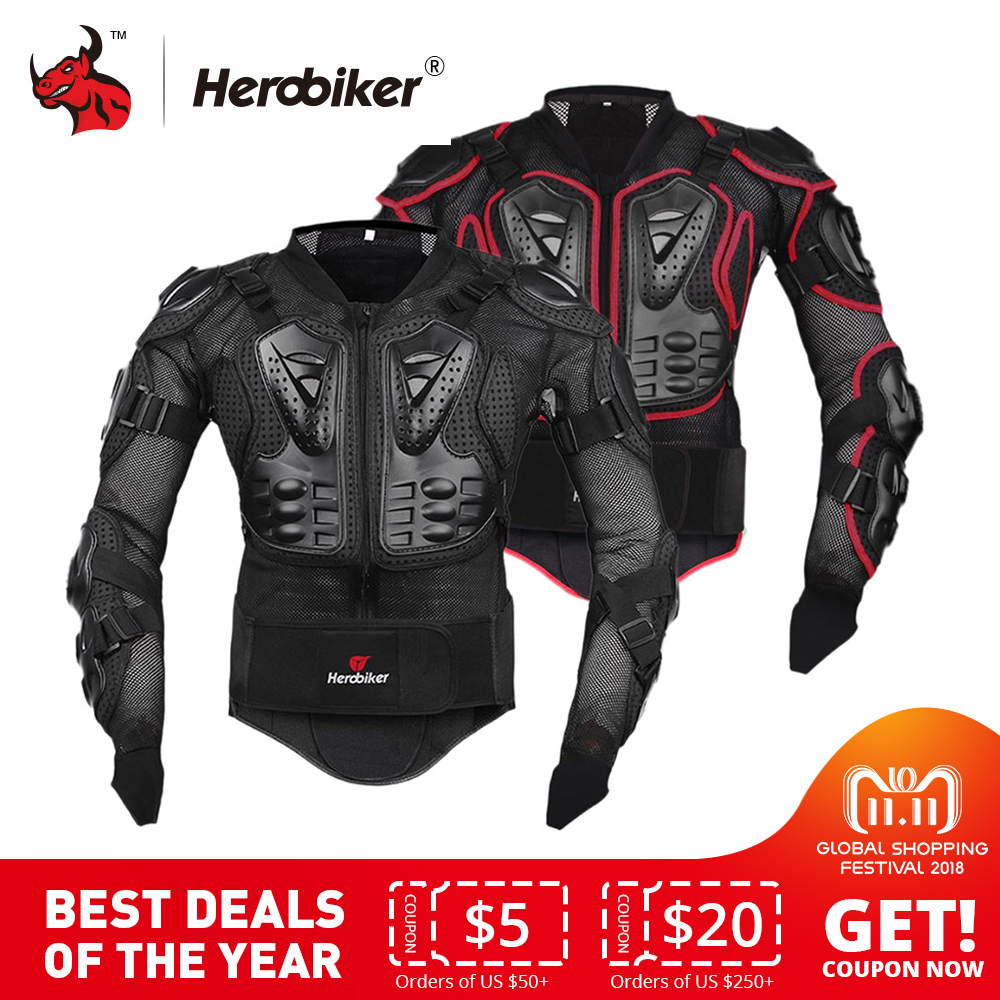 HEROBIKER Motorcycle Jacket Protective Gear Motocross Gear Armor Body Chest Motor Rider Racing Jacket Motorcycle Protection недорго, оригинальная цена