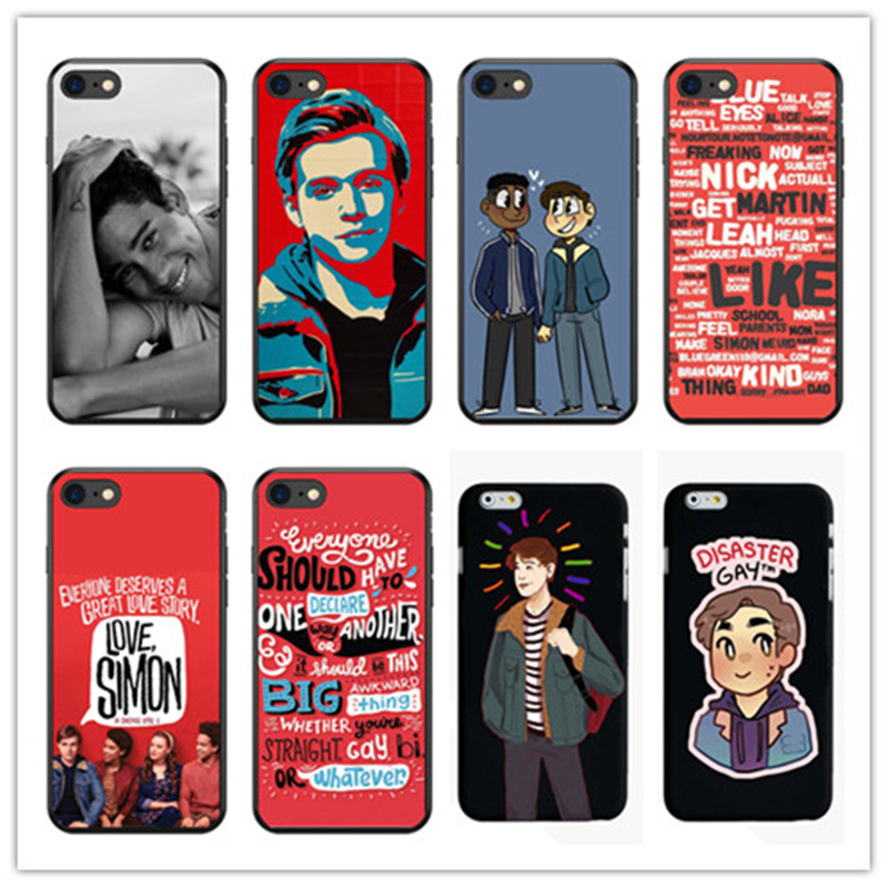 Milestone in gay movies The love simon soft silicone TPU phone Black Cover case For iphone 4 5 6 7 8 PLUS X Fundas Coque Capa image
