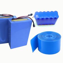 2M PVC heat shrink tube Shrink a variety of specifications 18650 battery sleeve Insulation casing Heat blue