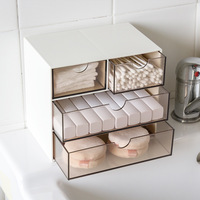 Multi layer Storage Drawers Sundries Jewelry Accessories Cosmetic Makeup Sort Out For Bedroom Office Plastic