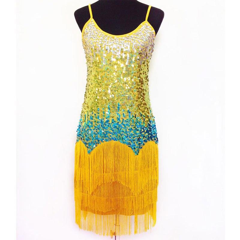 Latin Fringe Dress Dance Wear Women Latin Dancing Dress Dance Skirt Salsa Dance Costume Dresses Dancewear Ballroom 5 Color