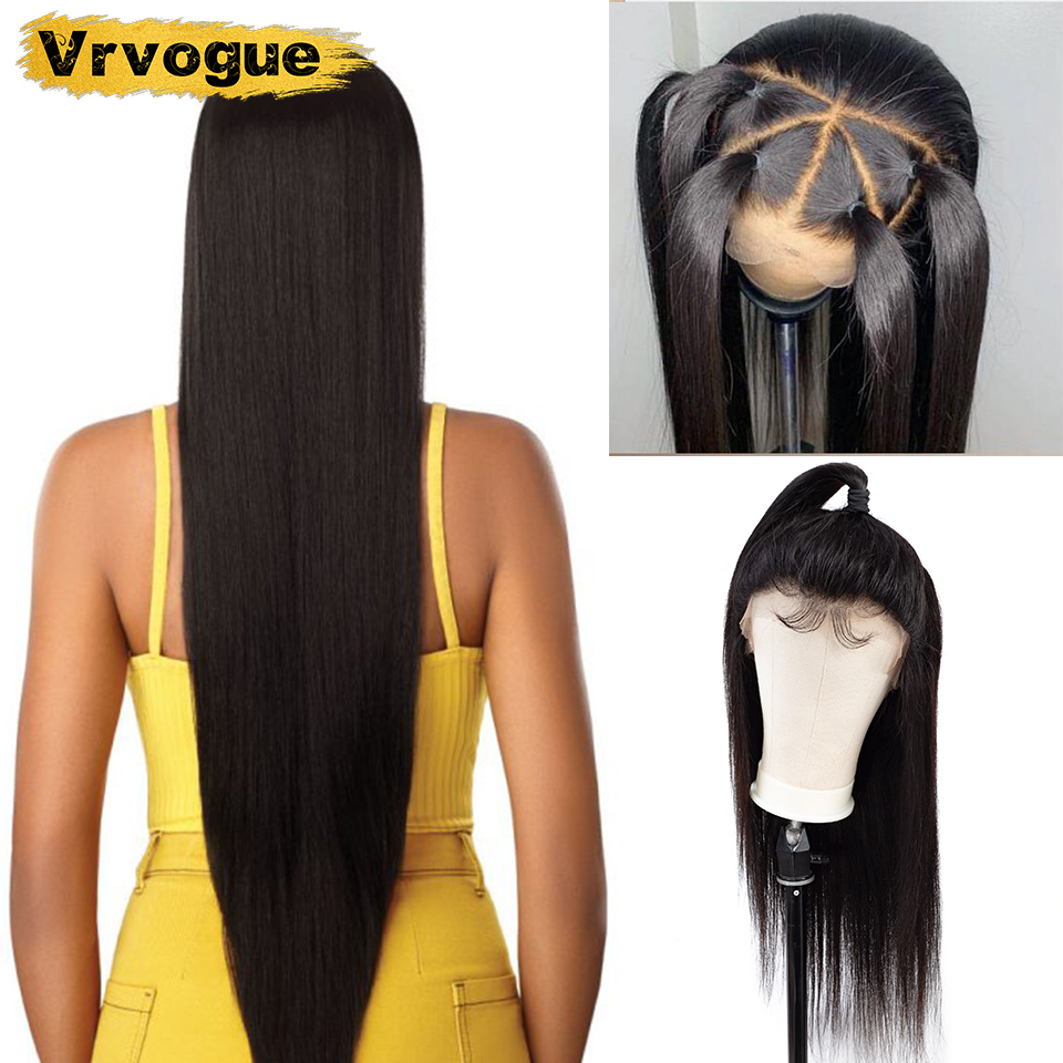 360 Lace Frontal Wig Pre Plucked With Baby Hair Malaysia Straight Human Hair Wigs Remy Hair
