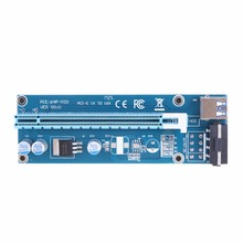 60cm USB 3.0 PCIe Riser Card PCI-E Express 1xTo 16x Extender Riser Card SATA 4PIN Power PCIe USB Adapter For BTC Mining Machine