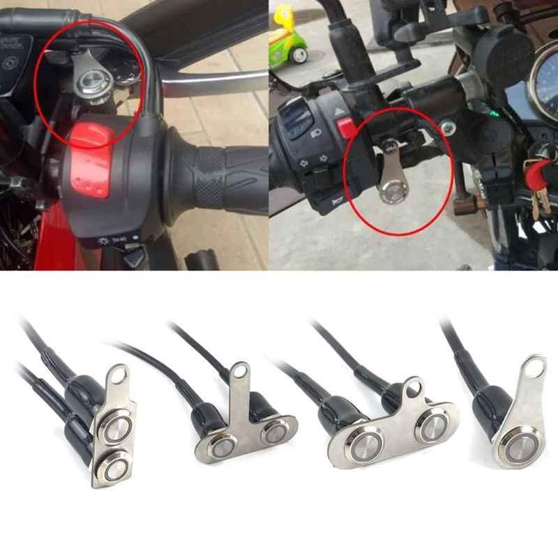 KKmoon para manillar de bicicleta 12 V CC Interruptor universal para motocicleta ATV bot/ón ON Off