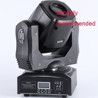 60w led spot moving head light led 60w yoke light led mini dmx gobo moving head spot light party concert dj equipment