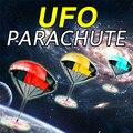 Luz do Flash Mão Jogando Velocidade de Corrida Soldado Esportes Ao Ar Livre das Crianças Dos Miúdos Jogos Jogar Mini UFO Paraquedas de Brinquedo