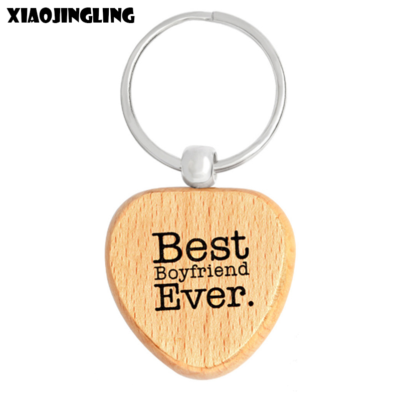 Aliexpress.com : Buy XIAOJINGLING Trendy Natural Wood Keychains Best Boyfriend Ever For Men