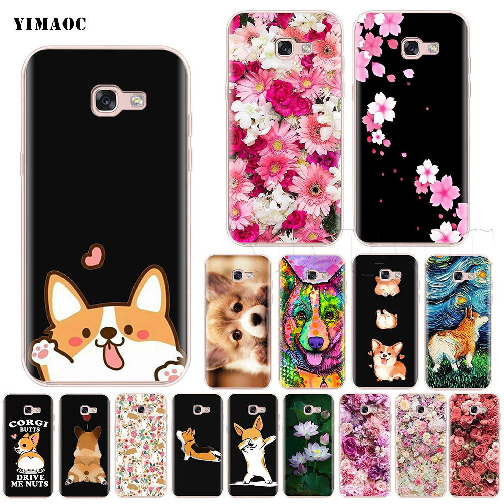 2019 Latest Design Yimaoc Cute Corgi Dog Silicone Case For Samsung Galaxy S7 S8 S9 Edge Plus J3 J5 J7 A5 A6 A8 Note 8 9