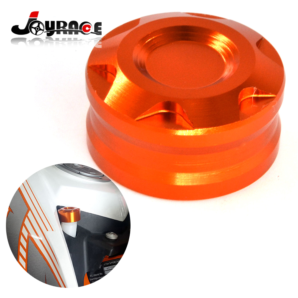 Orange Aluminium Handlebar end plug For KTM 125 200 390 DUKE O2
