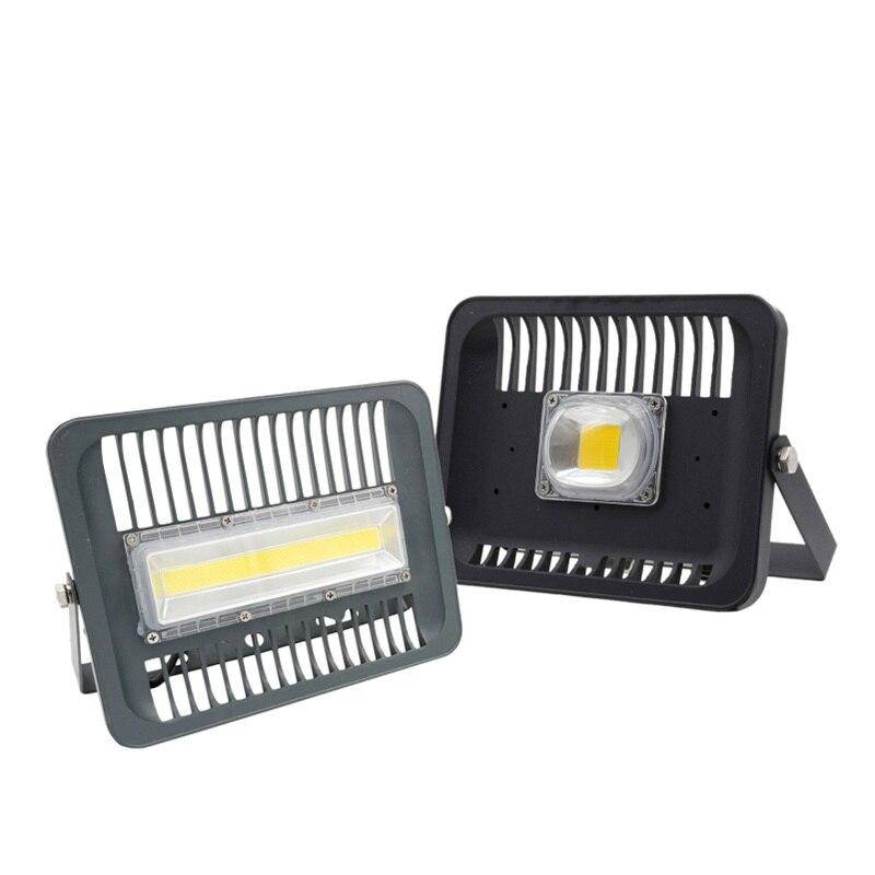 LED Floodlight Spotlight 30W 50W 100W Outdoor Wall Lighting 110V 220V COB Smart IC High Brightness IP65 For Square Garden Garage