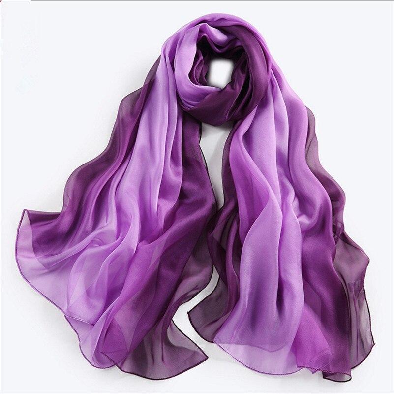 Gradient Pure Silk Scarf | Lightweight Scarves