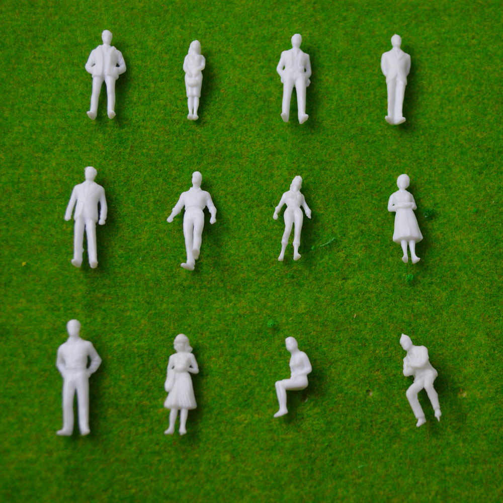 150-scale-model-miniature-white-figures-Architectural-model-human-scale-HO-model-ABS-plastic-peoples-1