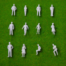 1:50 scale model  miniature white figures Architectural model human scale HO model ABS plastic peoples