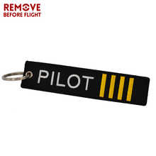 Wholesale Remove Before Flight Chaveiro OEM Key Chain Safety Tag Embroidery Pilot Key Ring Chain for Aviation Gifts 100 PCS/LOT