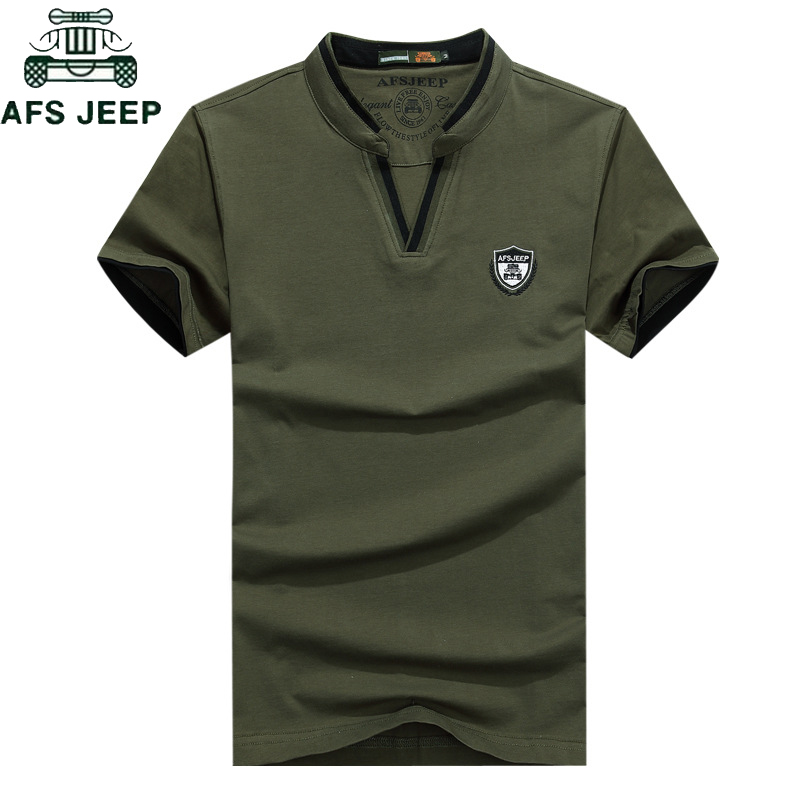AFS JEEP Brand Summer Cotton Polo Shirt Men 2019 Military Anti-Pilling Breathable Polos Para Hombre Big Size M-3XL Camisa Polo
