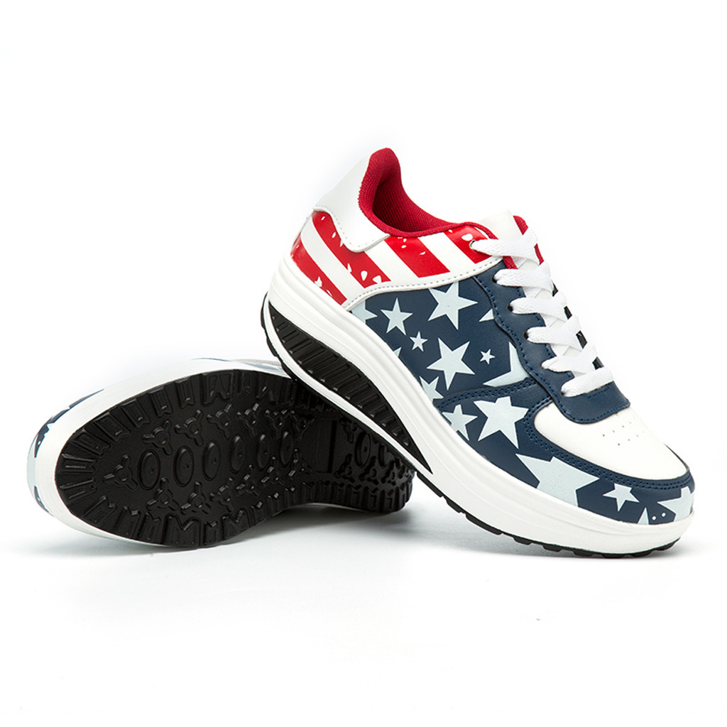 2019 Women Chunky Sneakers Casual Shoes American Flag Flock Basket Femme Platform Sneakers Women Wedges Shoes Tenis Feminino2019 Women Chunky Sneakers Casual Shoes American Flag Flock Basket Femme Platform Sneakers Women Wedges Shoes Tenis Feminino