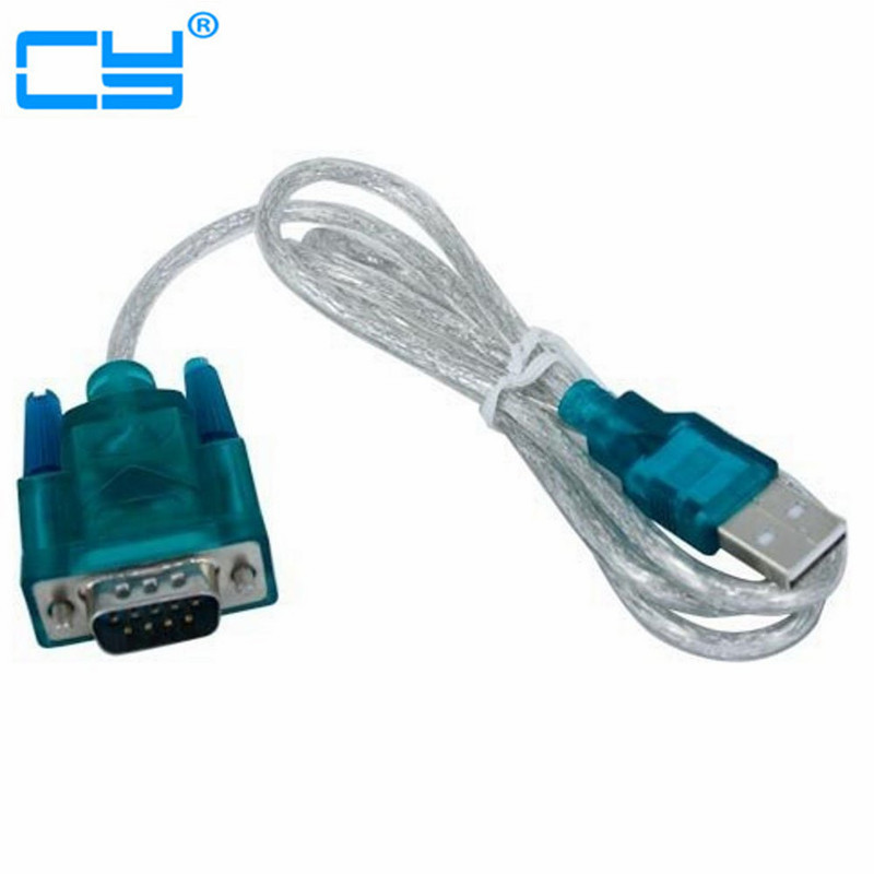 High Quality USB 2.0 to Serial RS-232 DB9 9Pin Adapter Converter Cable FTDI Chipset Length 1M USB TO RS232 SUPPORT WIN10 hl 340 usb to rs232 serial port 9 pin db9 pda cable convertor support windows7 64 usb to rs 232 serialport cable adapter hy582