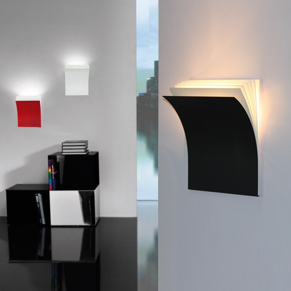 Online Shop Simple Style Creative Books Wall Sconce Modern LED
