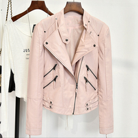 Natural Leather Automotive Jackets And Coats Women Surper Quality Faux Leather Jacket For Women Spring Style