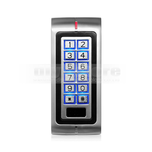 DIYSECUR New Metal Case 125KHz RFID Reader Keypad Access Controller For House / Office Safety Use K2|controller touch|control|case package - title=