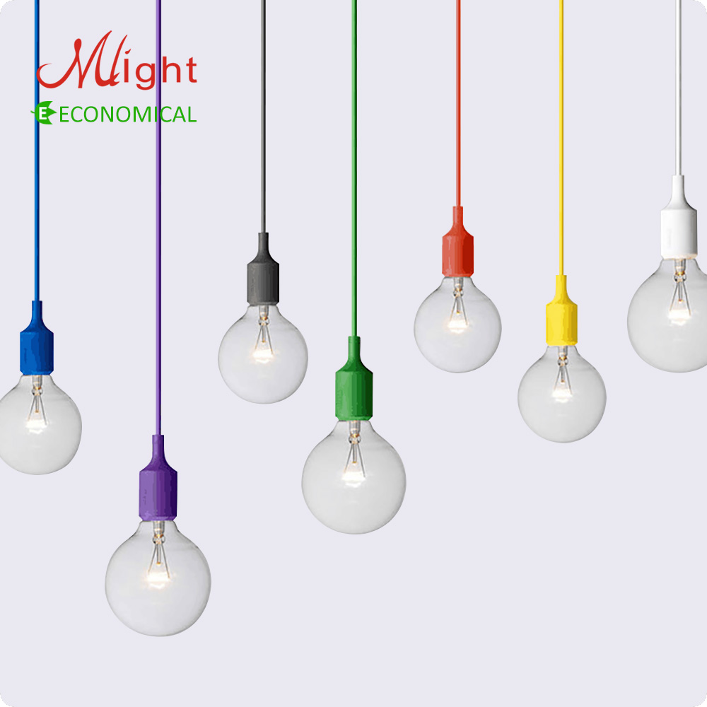 Colorful Vintage E27 Pendant Lamp Holder Edison Bulbs Bar Restaurant ...
